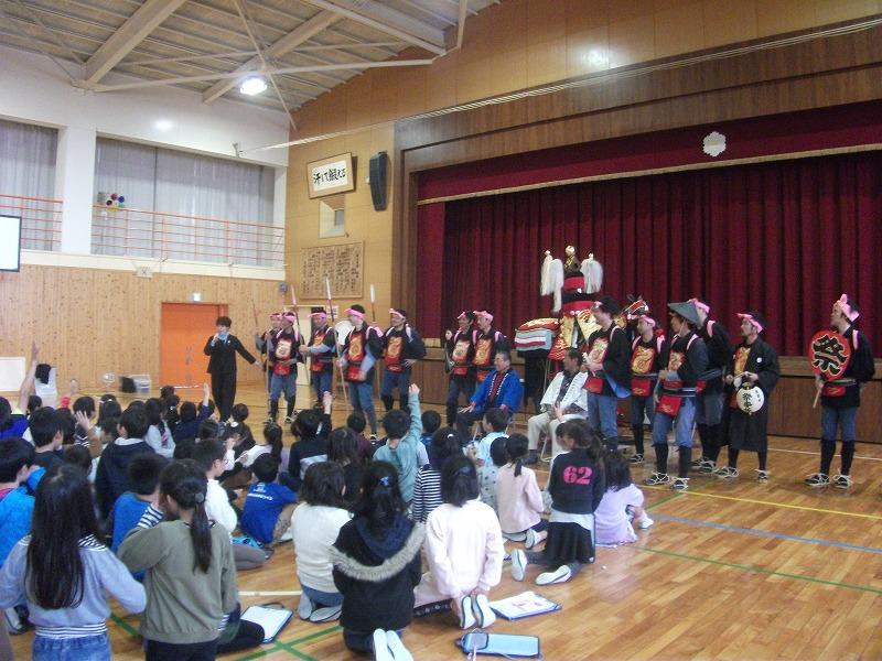 日進東小学校おまんと出前授業1